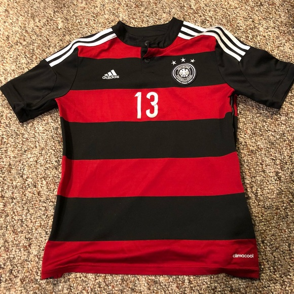 sports shoes e6654 caf36 Thomas Muller Germany Soccer Jersey